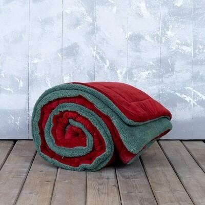 Κουβερτο-Πάπλωμα Υπέρδιπλο Nuan Red-Green - Nima Home