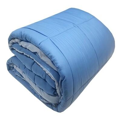Πάπλωμα Μονό Micro Light Blue-Blue - Komvos