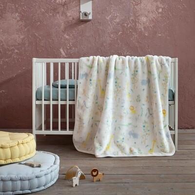Κουβέρτα Βελουτέ Λίκνου Zooborn - Nima Home
