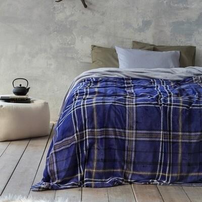 Κουβέρτα Μονή Kester Blue - Nima Home