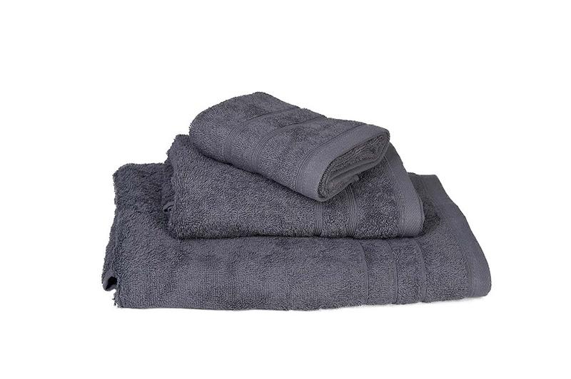 Πετσέτα Χειρός Μονόχρωμη Πενιέ 500 gr/τμ Γκρι - Komvos