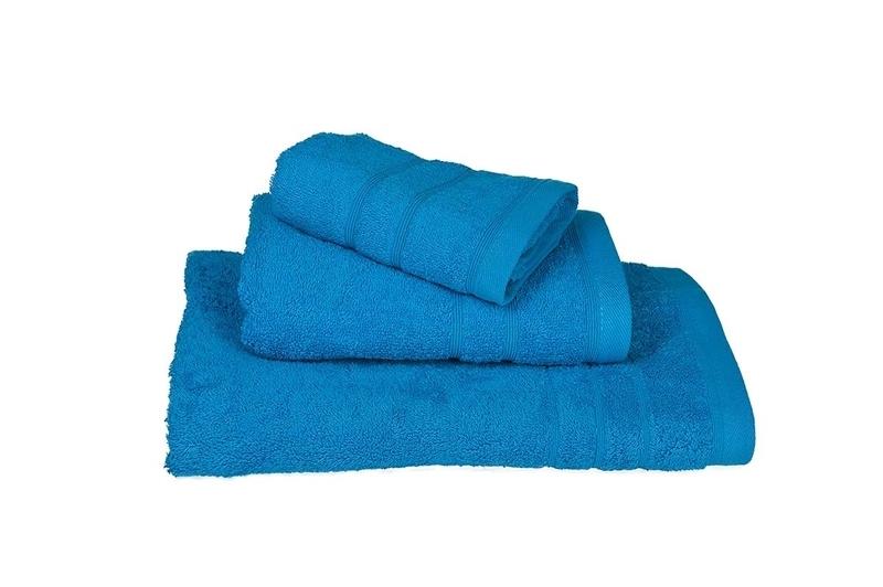 Πετσέτα Χειρός Μονόχρωμη Πενιέ 500 gr/τμ Τυρκουάζ - Komvos