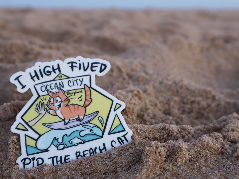 NEW Ocean City Themed I High-Fived Pip Vinyl Sticker