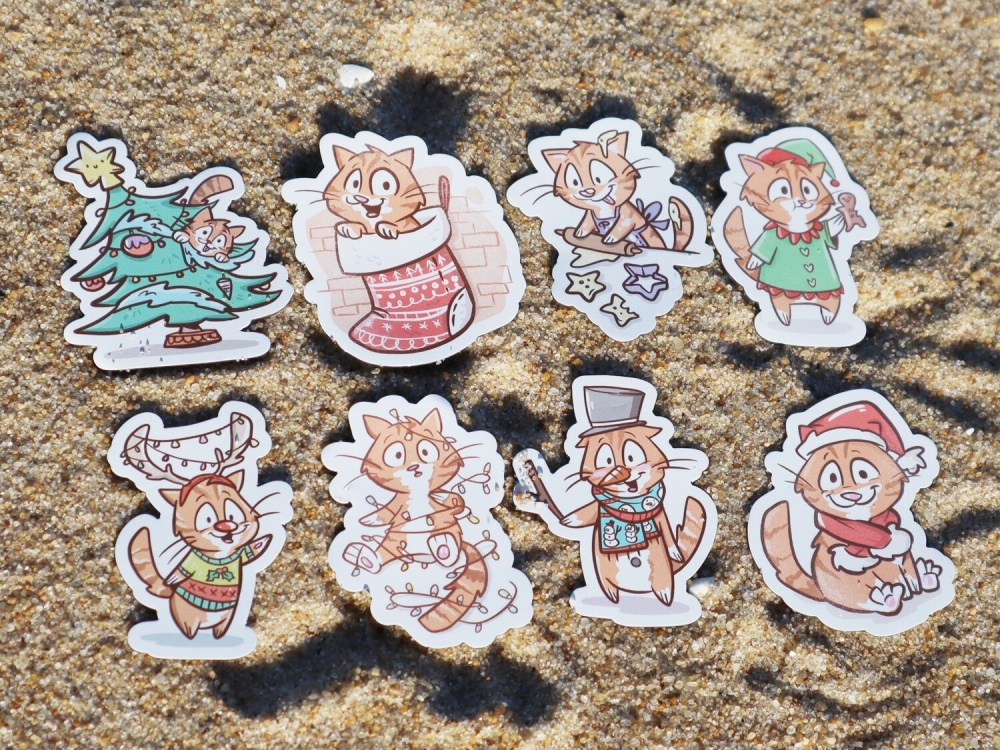Mini-Magnet Christmas Pips as a Set or Individual