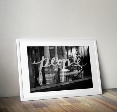 """People"" Black & White Print"