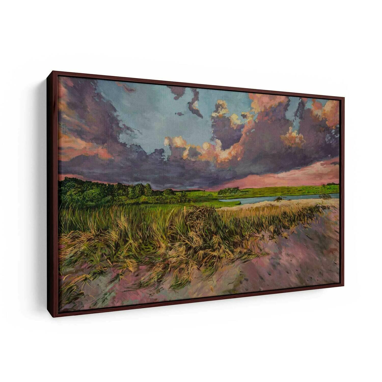 Vineyard Sunset   Original Oil Painting