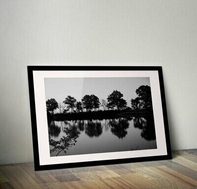 """Eagle Pond"" Black & White Print"