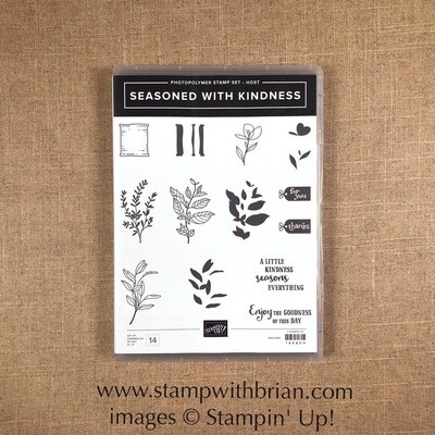 Seasoned with Kindness Photopolymer Stamp Set NEW