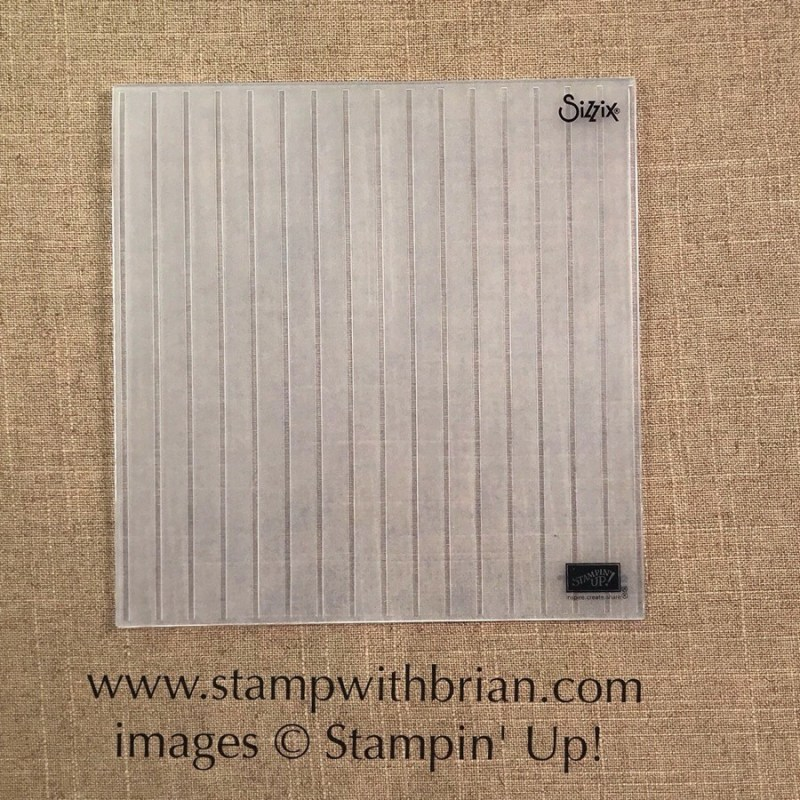 Simple Stripes Embossing Folder NEW