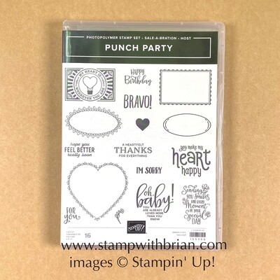 Punch Party Photopolymer Stamp Set - NEW