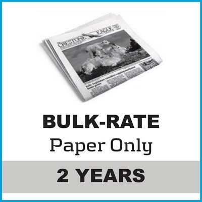 Crestone Eagle News -  2 Year Paper Subscription
