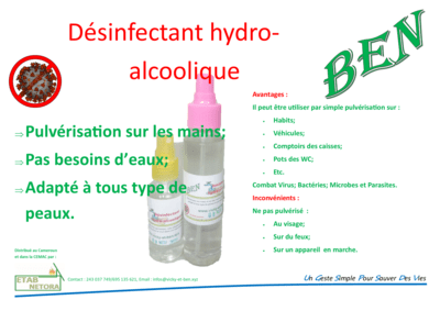 Solution Désinfectant Hydro-alcoolique 100 ml