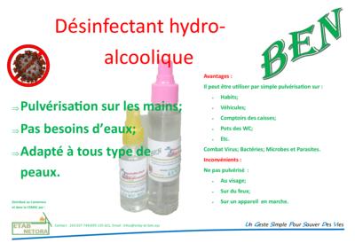 Gel Désinfectant Hydro-alcoolique 100 ml