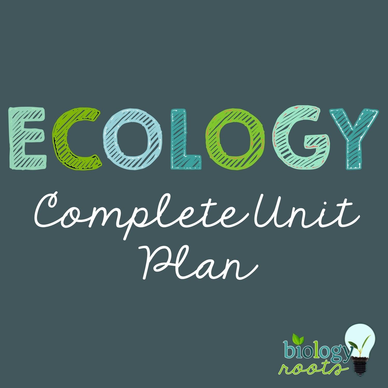 Ecology Unit Bundle - supports digital
