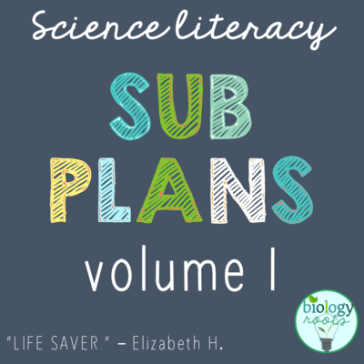 Science Literacy Sub Plans Volume I
