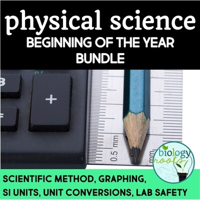 Physical Science Beginning of the Year Bundle