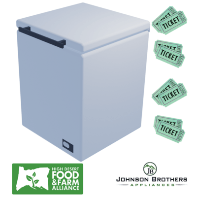 Raffle ticket for your chance to win a chest freezer!
