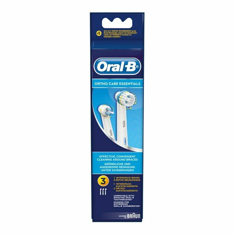 Oral-B Ortho Care Essentials Ανταλλακτικές Κεφαλές Οδοντόβουρτσας 3τμχ