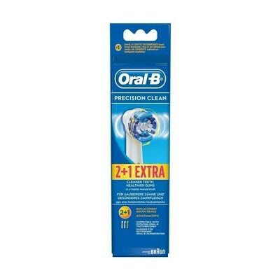 Oral-B Precision Clean Ανταλλακτικές Κεφαλές Ηλεκτρικής Οδοντόβουρτσας 3Τμχ. (2+1 Δώρο)