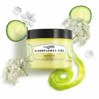 I Love Elderflower Fizz Body Butter 300ml