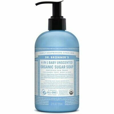 Dr Bronners - Baby Unscented Organic Sugar Soap 355ml