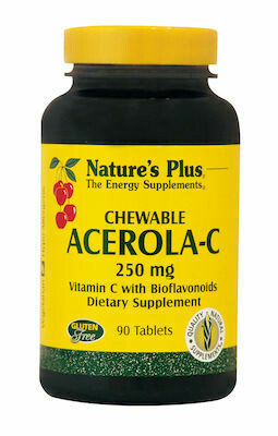 Natures Plus VIT. C - Acerola 500mg Chew. 90S