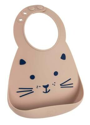 Makemyday Σαλιάρα σιλικόνης - BABY BIB CAT