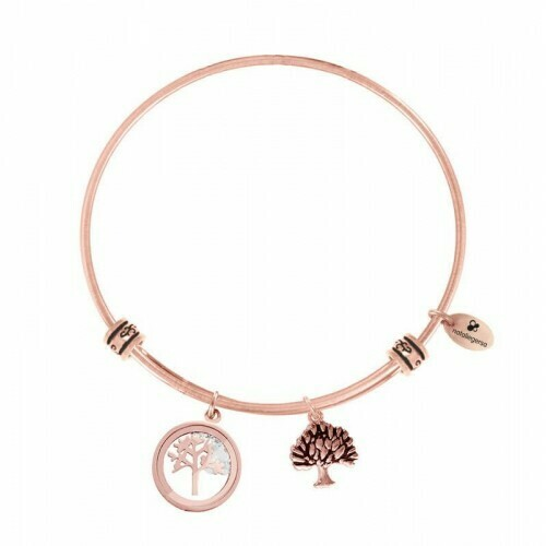 Natalie Gersa Steel Bracelet Pendants Family Tree