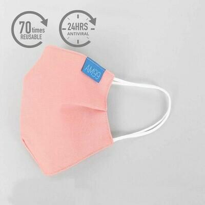 Face Mask AM99™ Antiviral Antibacterial Reusable 70 times – Salmon Pink