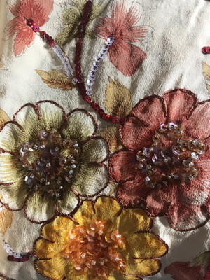 Floral Sequin Silk