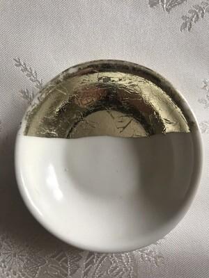 Gold & White Ring Dish