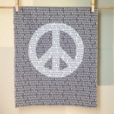 #Persist - Hand Printed Fabric Panel