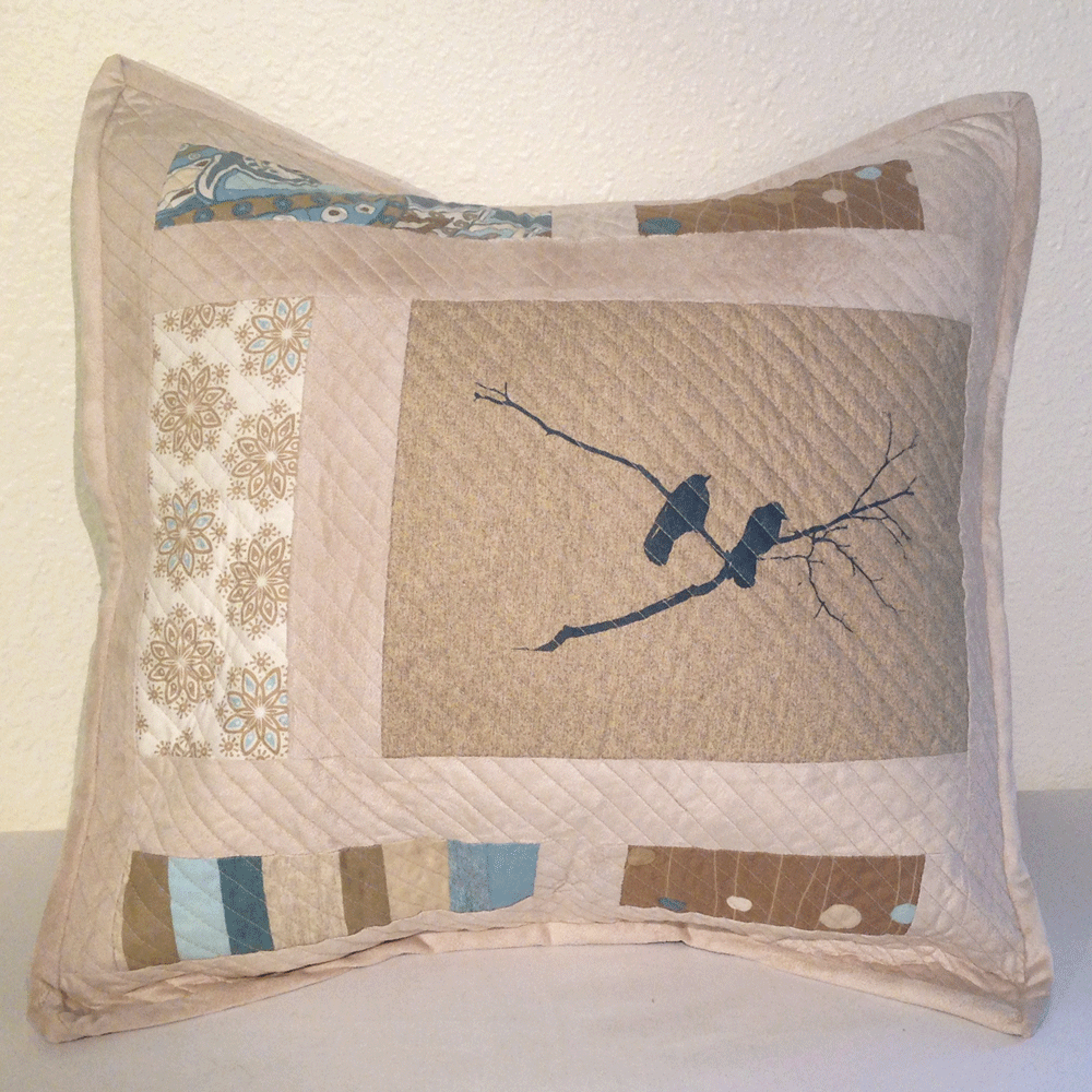 Quilted Crow Pillow Cover No.2