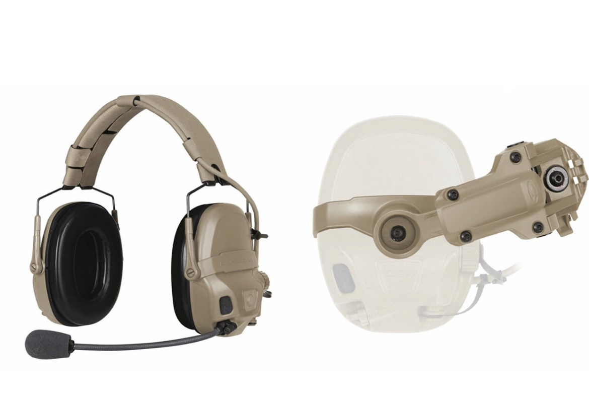 OPS-CORE AMP COMMUNICATION HEADSET - CONNECTORIZED. With Rail Mount Kit