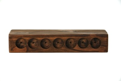7-Hole Wooden Display Stand