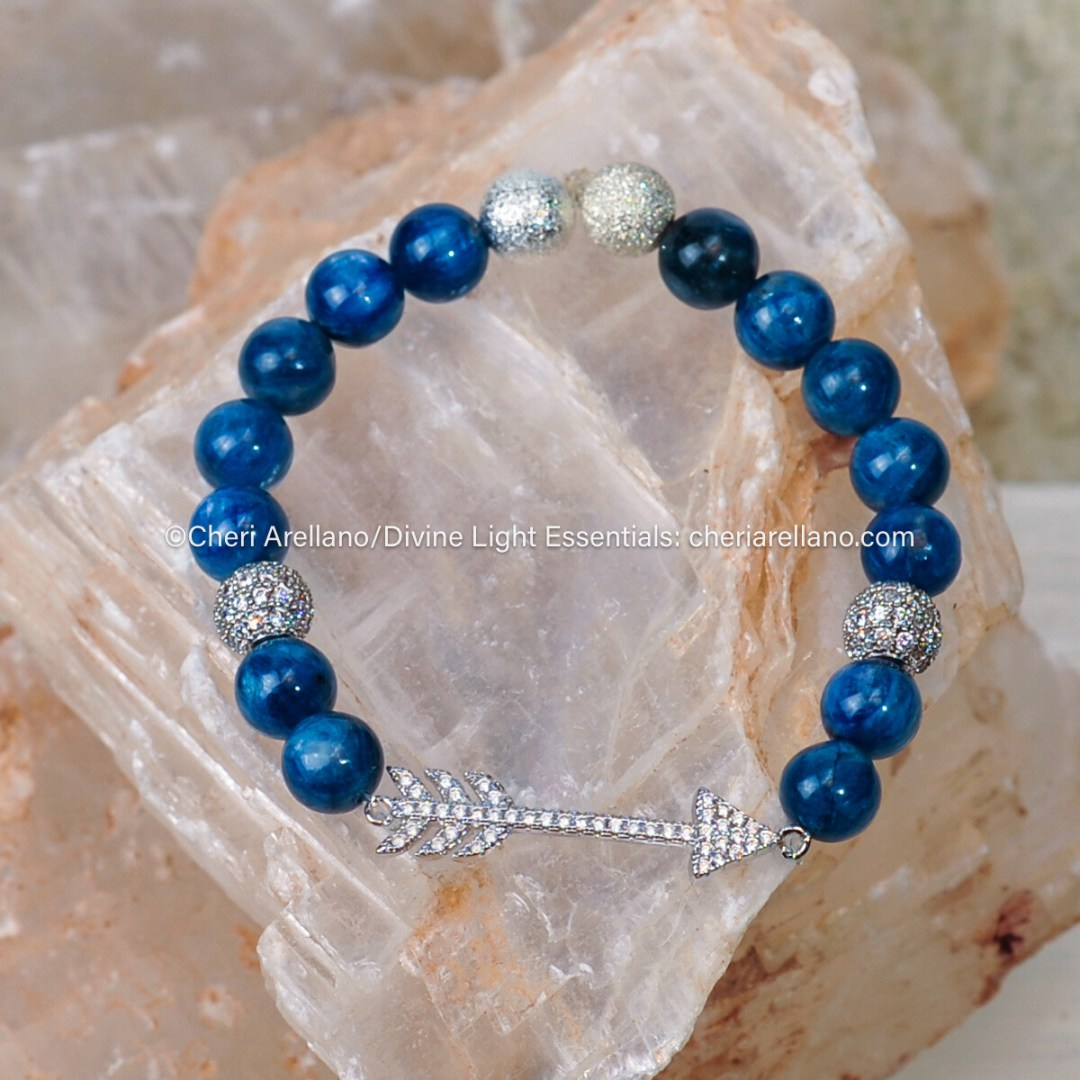 Kyanite Rhinestone Arrow Bracelet