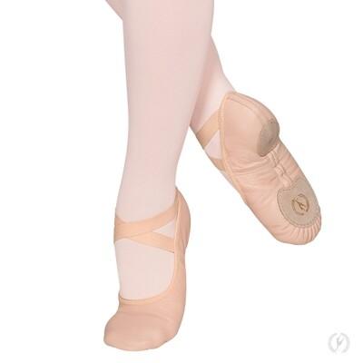 A2004A Eurotard Leather No Drawstring Ballet Slipper Split Sole
