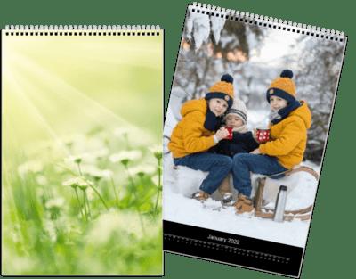 Fotokalender 20x30 cm - Minimalistisk med store bilder