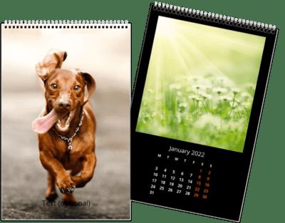 Fotokalender 20x30 cm - Enkel sort
