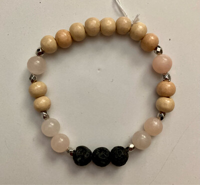 Pink Opal Diffuser Bracelet