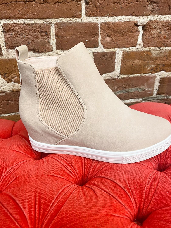 Blush Sneaker Wedges
