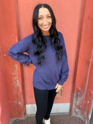 Navy Raglan Sweater