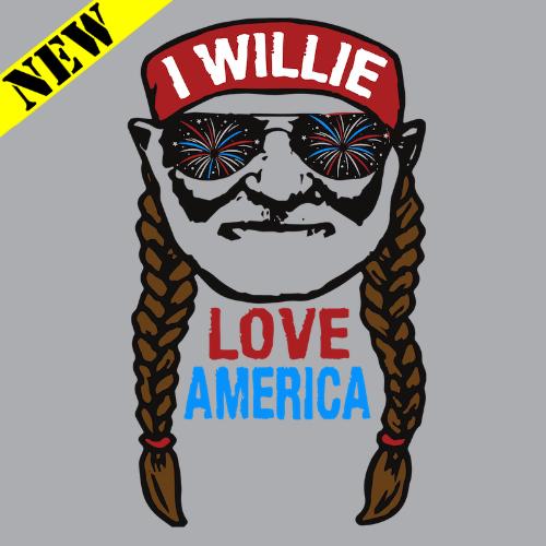 T-Shirt - Willie Love America