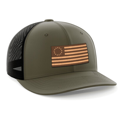Hat - Leather Patch: 13 Colonies