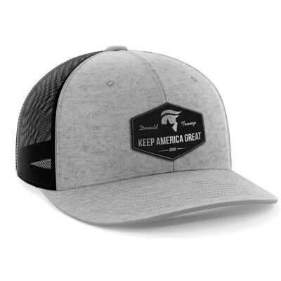 Hat - Black Leather Patch: Keep America Great