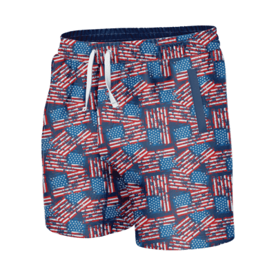 GH Swim Trunks - Distressed American Flag (Shorties)