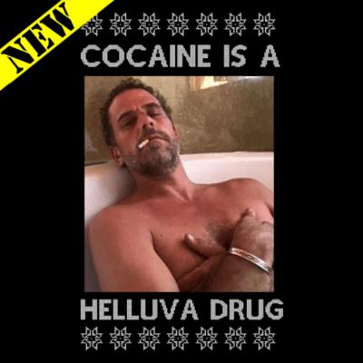 Sweatshirt - Christmas Sweater - Cocaine Is A Helluva Drug
