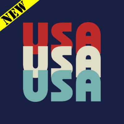 T-Shirt - USA Tri-Color