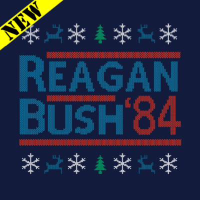 Sweatshirt - Christmas Sweater - Reagan Bush '84
