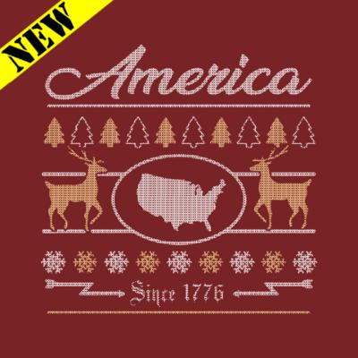 Sweatshirt - Christmas Sweater - America 1776